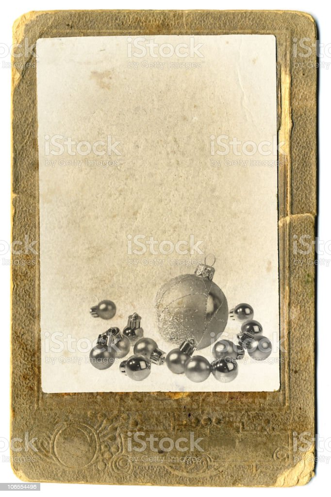 Retro Christmas Card. royalty-free stock photo