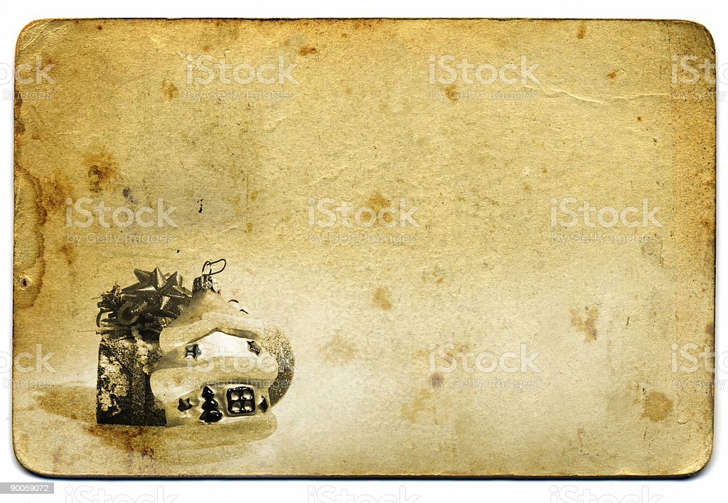 Retro Christmas Card royalty-free stock photo