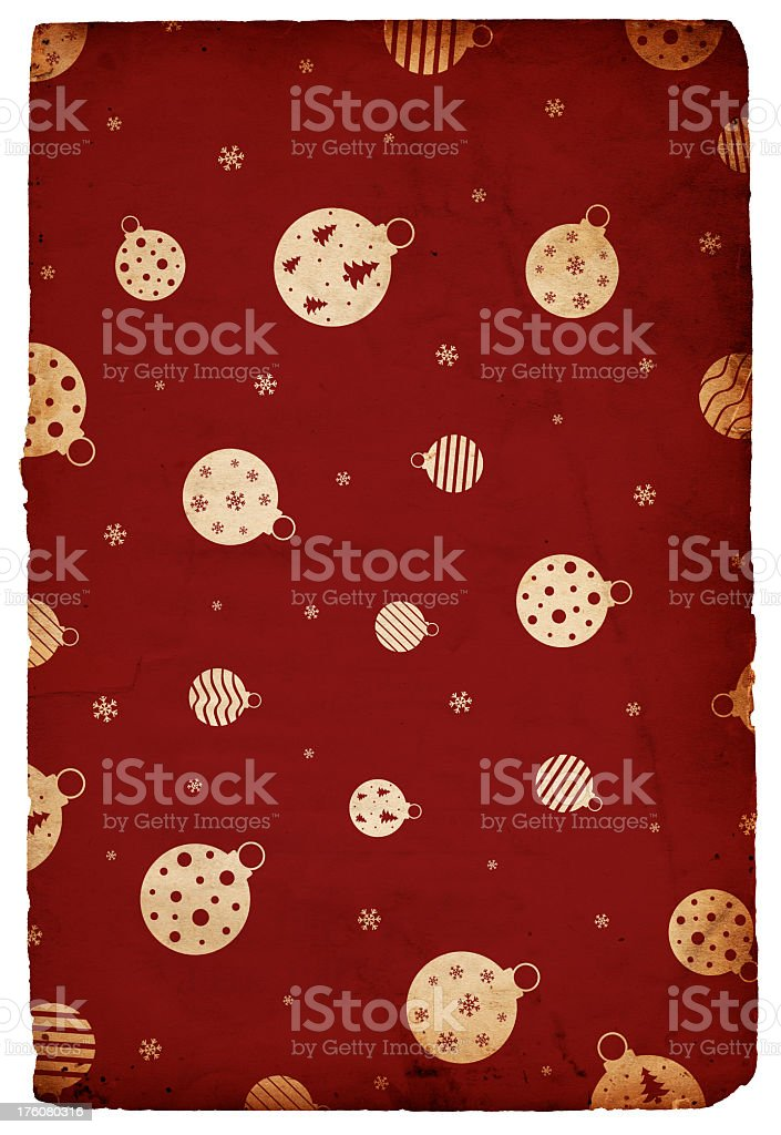 Retro Christmas Ornament Background royalty-free stock photo