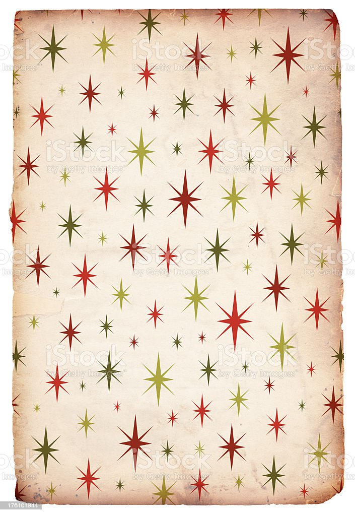Retro Christmas Starry Background royalty-free stock photo
