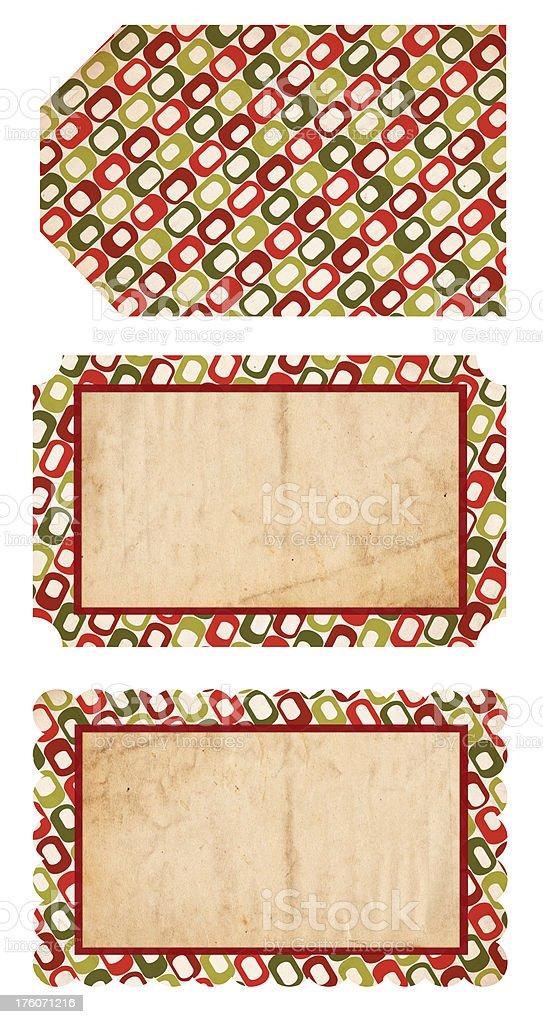Retro Christmas Tags royalty-free stock photo