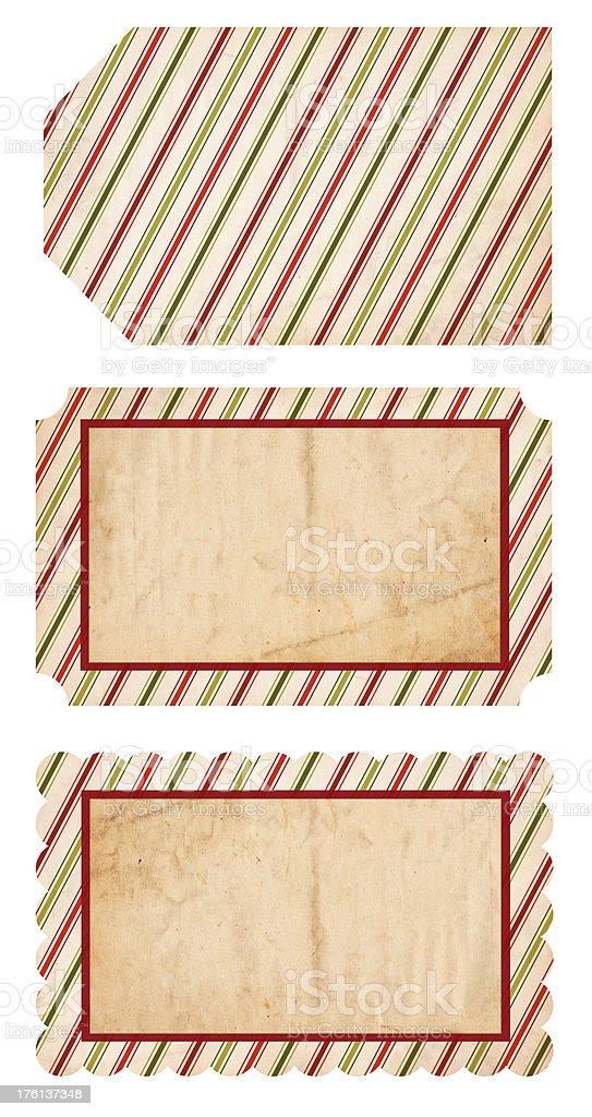 Retro Christmas Tags stock photo