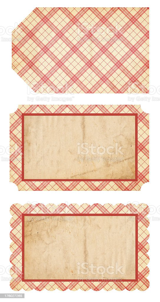 Retro Christmas Tags XXXL royalty-free stock photo