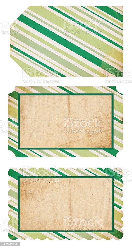 Retro Christmas Tags XXXL royalty-free stock photo