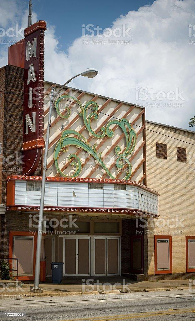 Retro Cinema royalty-free stock photo
