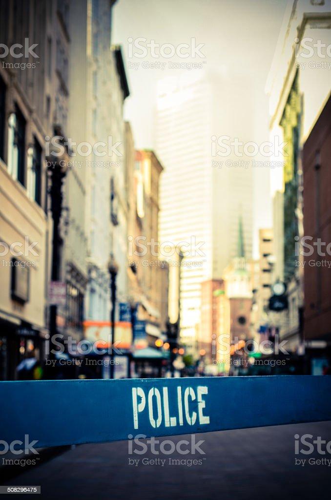 Retro City Crime Scene stock photo