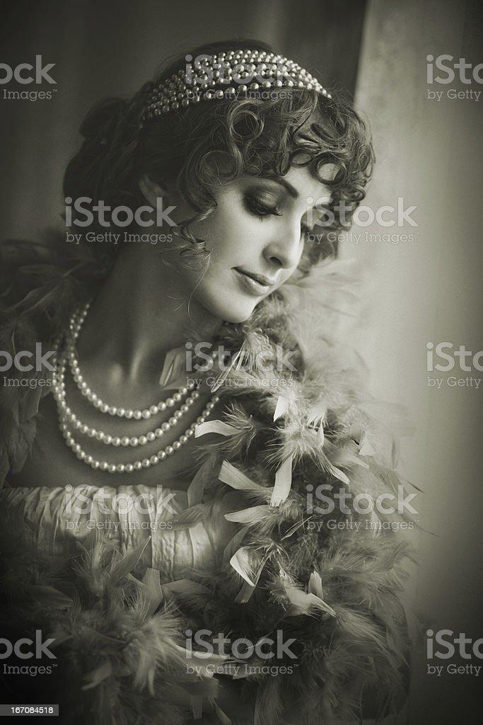 retro classic beauty royalty-free stock photo