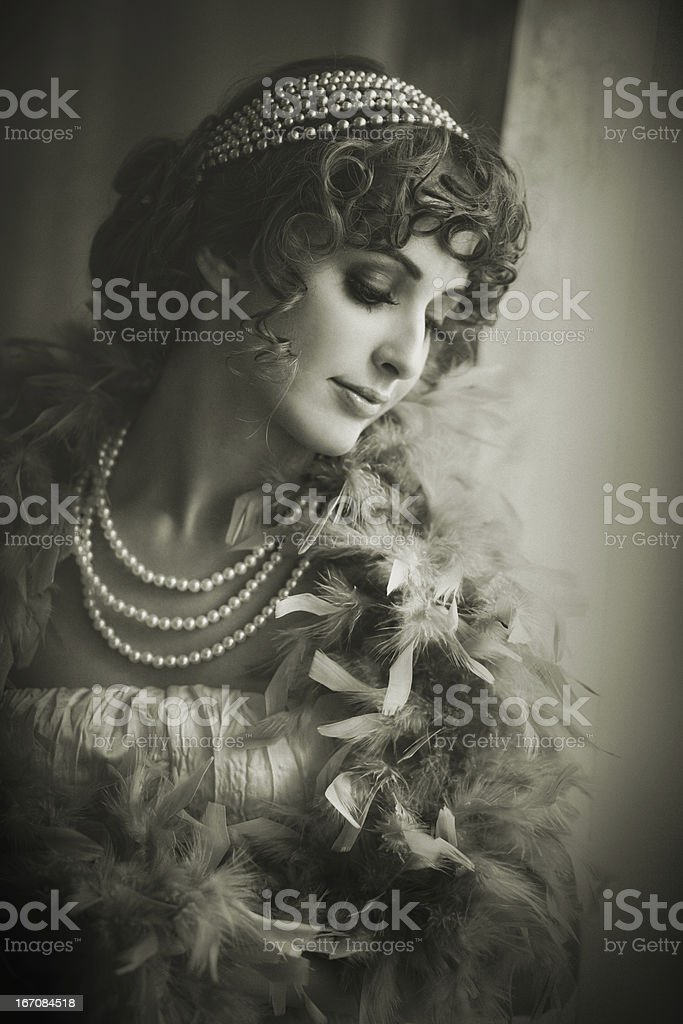 retro classic beauty stock photo