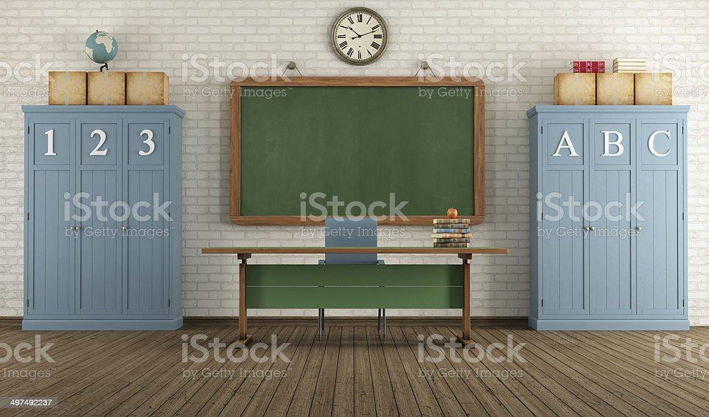 Retro classroom stock photo