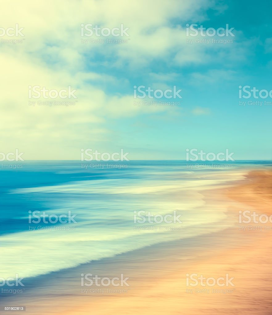 Retro Coastline stock photo