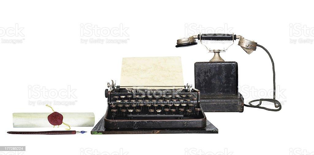 Retro communication royalty-free stock photo