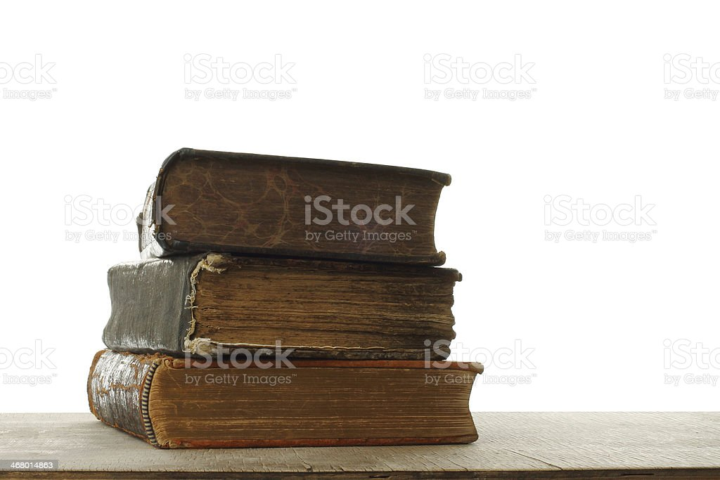 Retro composition with books stock photo