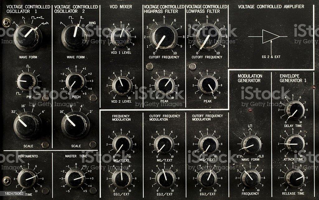 Retro Control Panel Korg MS20 stock photo