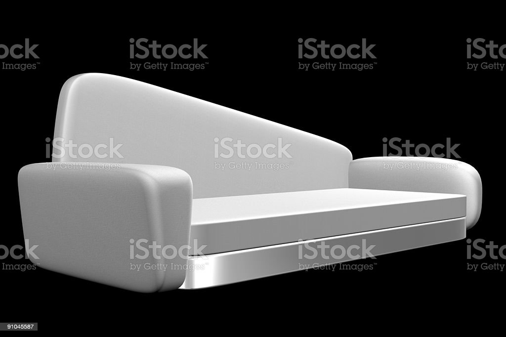 Retro Couch royalty-free stock photo