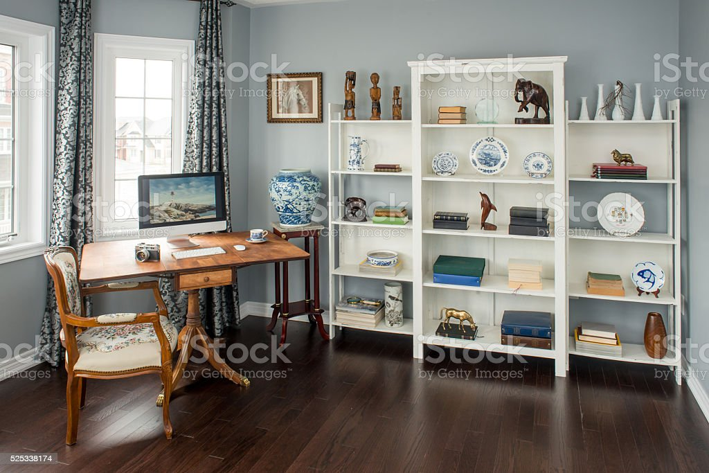Retro country styled home office / Study stock photo
