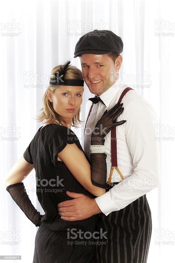 Retro couple royalty-free stock photo