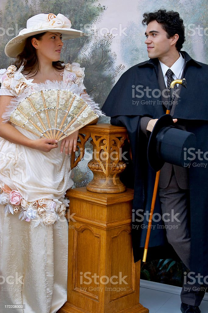 Retro couple portrait 2 royalty-free stock photo