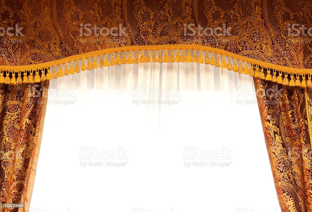 Retro curtains royalty-free stock photo