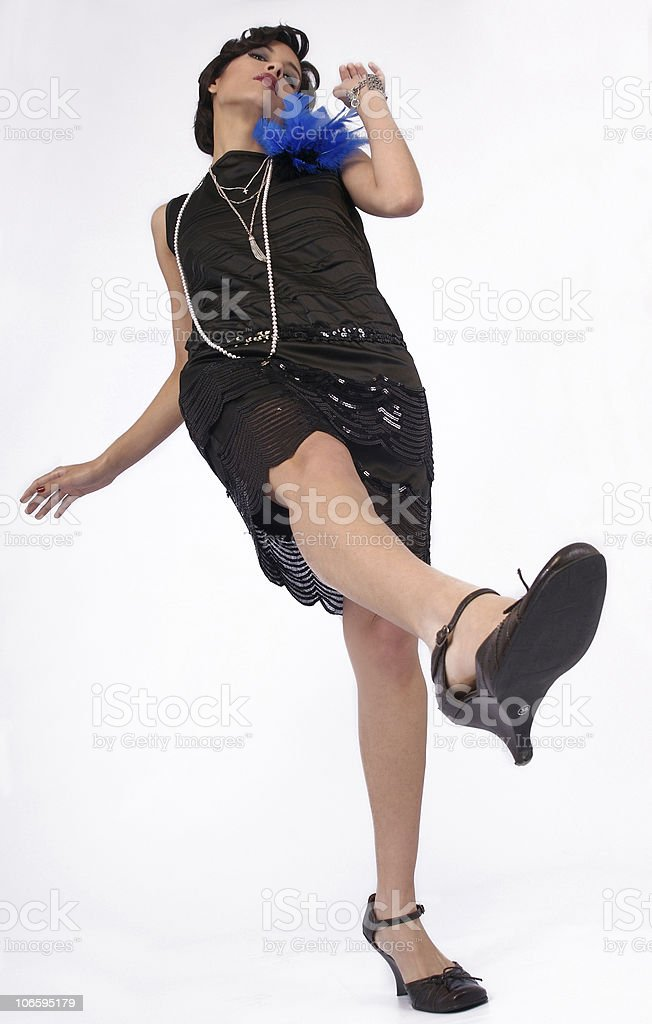 retro dancing woman royalty-free stock photo