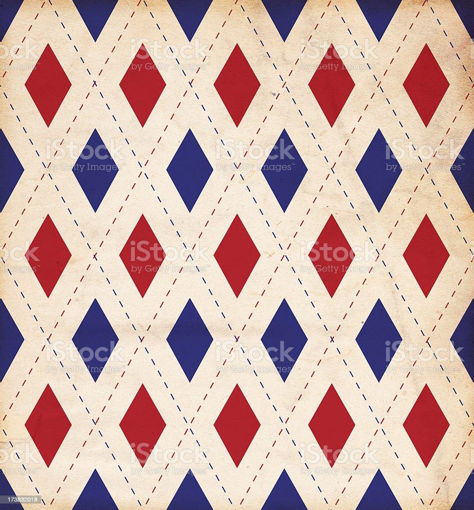 Retro Diamond Patriotic Paper Background XXXL stock photo