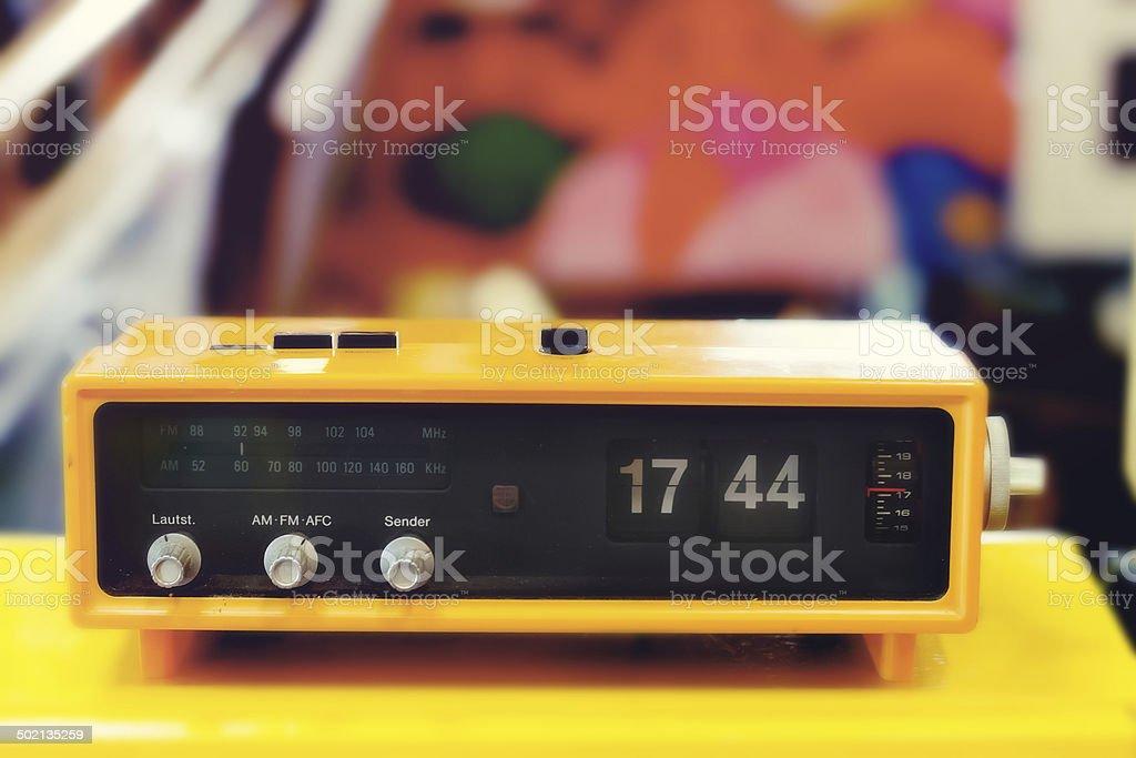 Retro digital flip clock stock photo