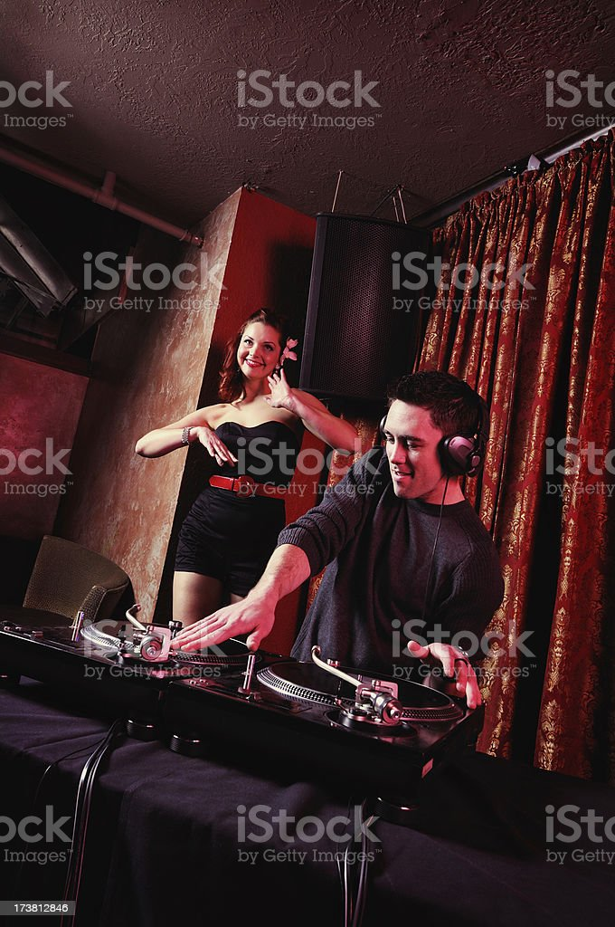 Retro DJ series royalty-free stock photo