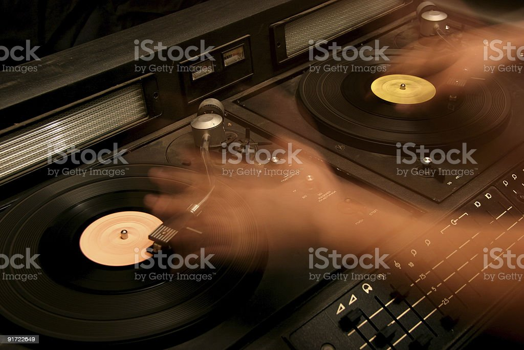 retro dj's mixer royalty-free stock photo