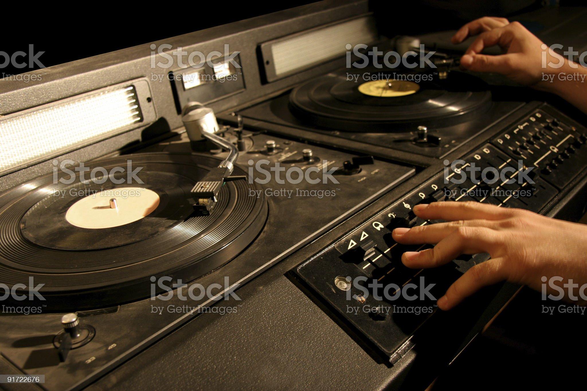 retro dj's mixer royalty-free stock photo