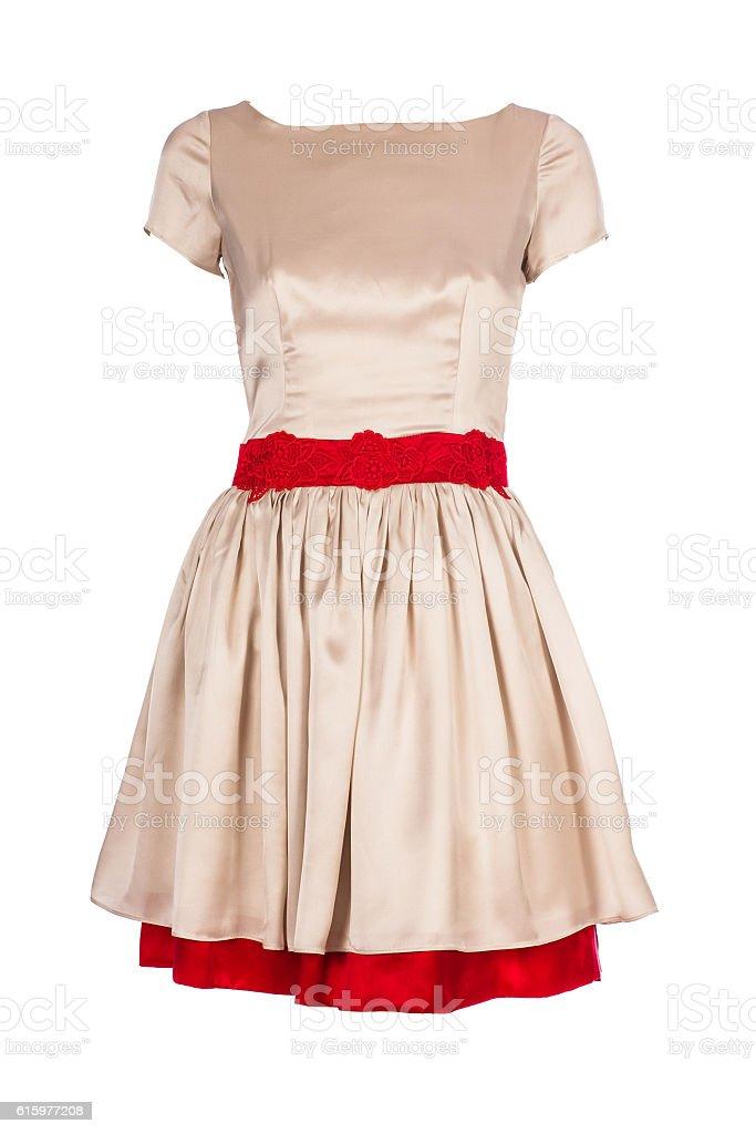 Retro dress isolated on white background stock photo