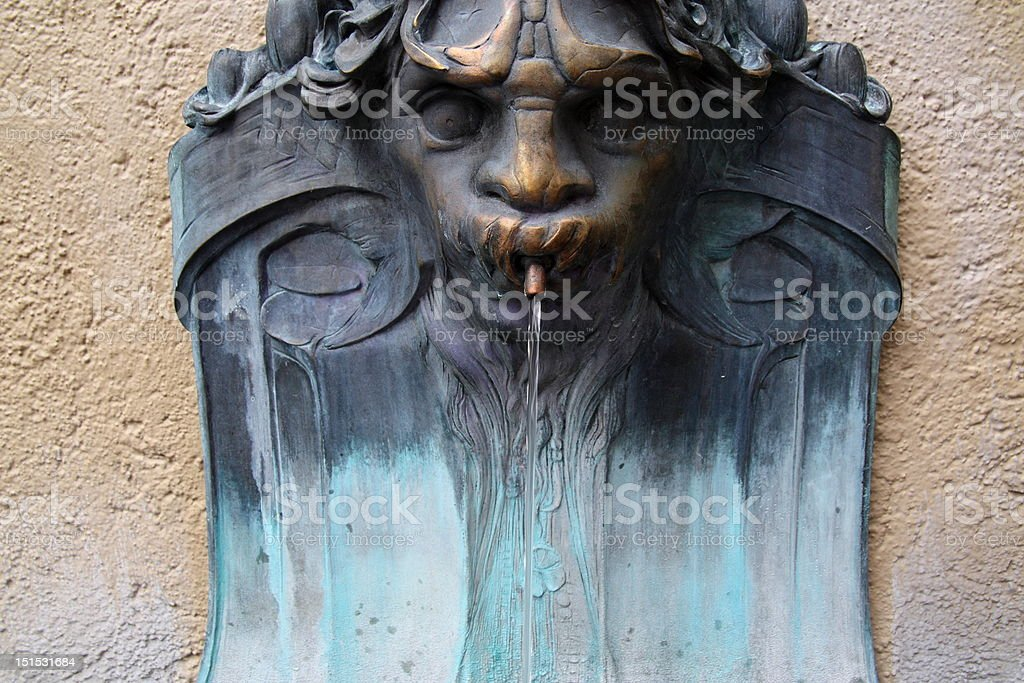 Retro drinking fountain royalty-free stock photo