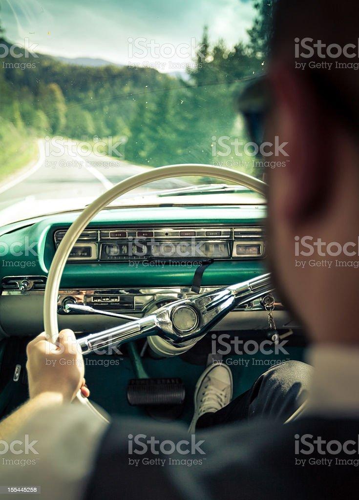 Retro driver stock photo