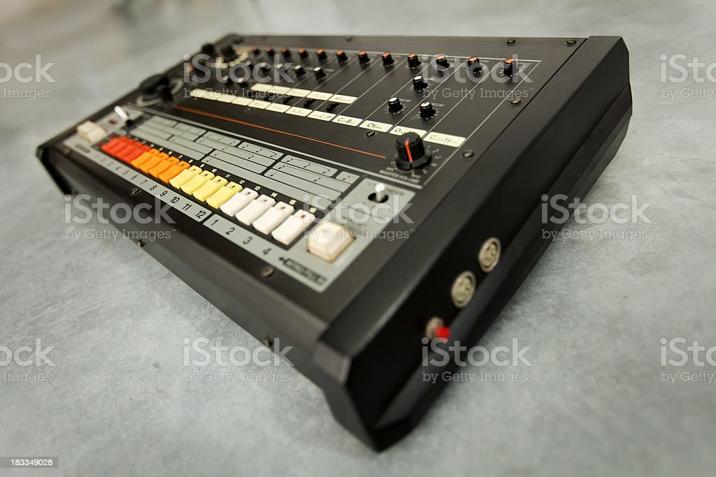 Retro drum machine stock photo