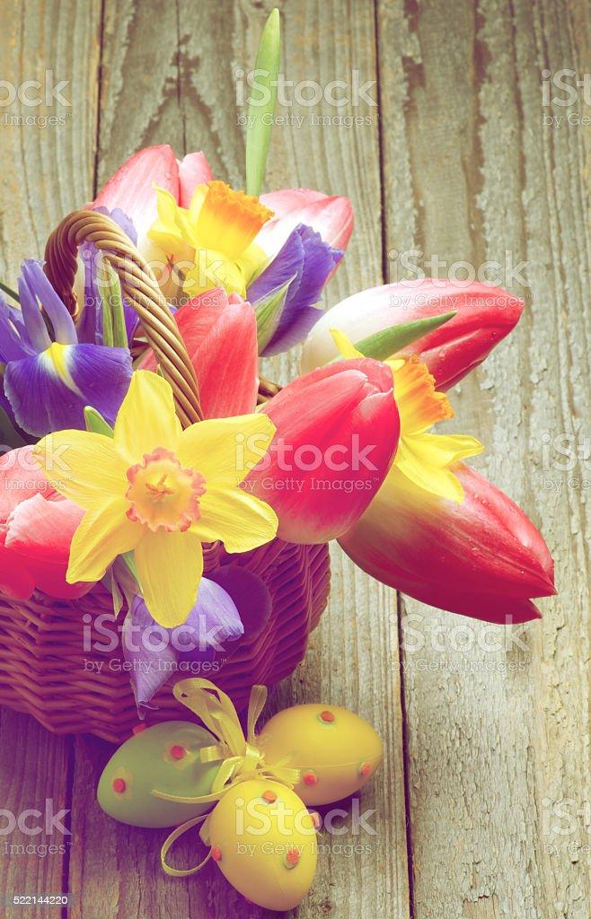 Retro Easter Theme stock photo