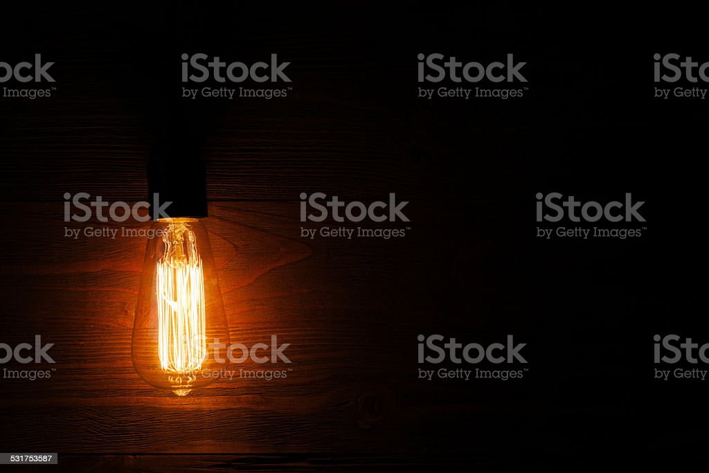 retro edison light bulb stock photo