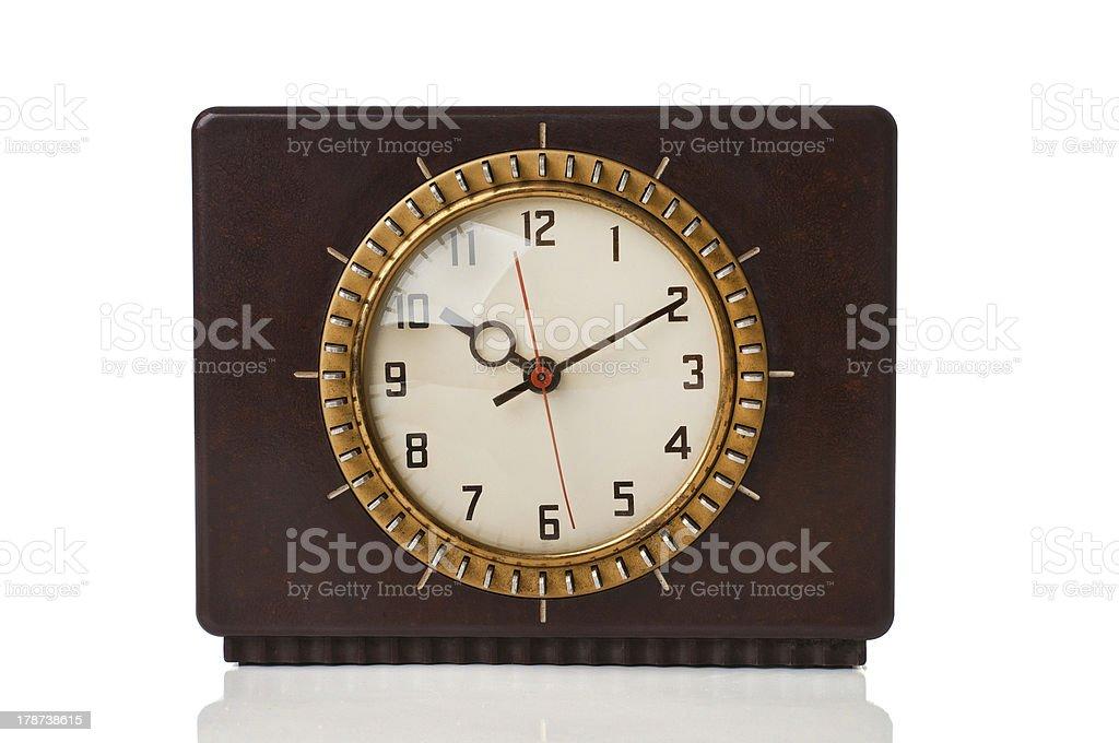 Retro electric reloj foto de stock libre de derechos