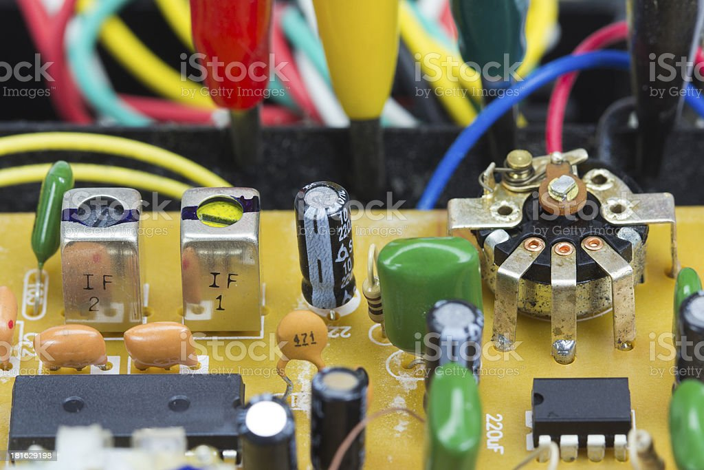 Retro electronic boards royalty-free stock photo