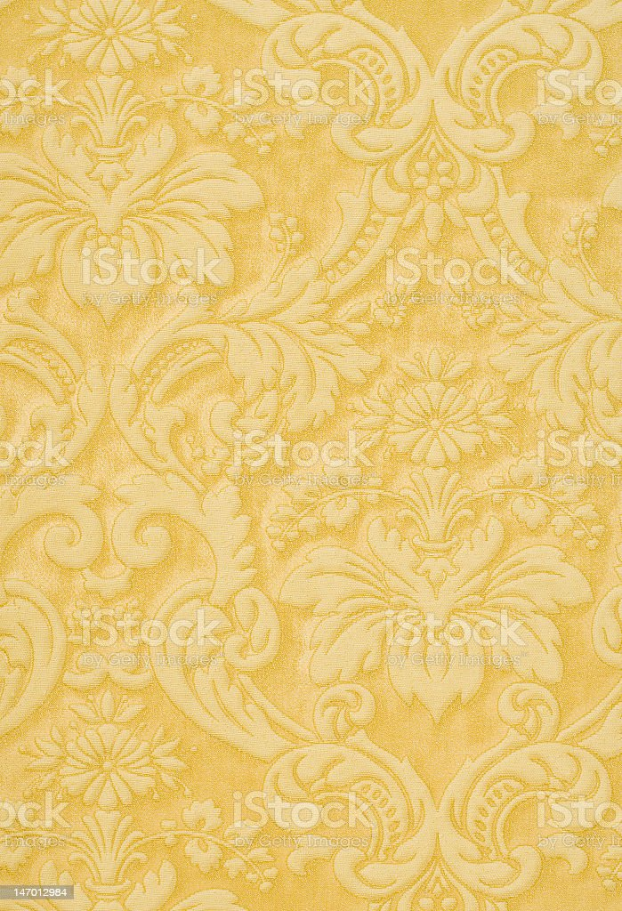 Retro embossed orange and yellow wallpaper stock photo