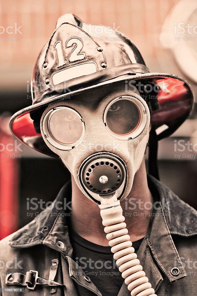 Retro Emergency Response Worker royalty-free stock photo