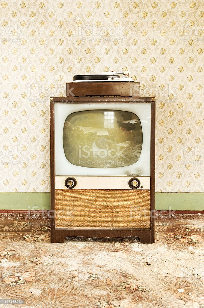 Retro Entertainment Center royalty-free stock photo