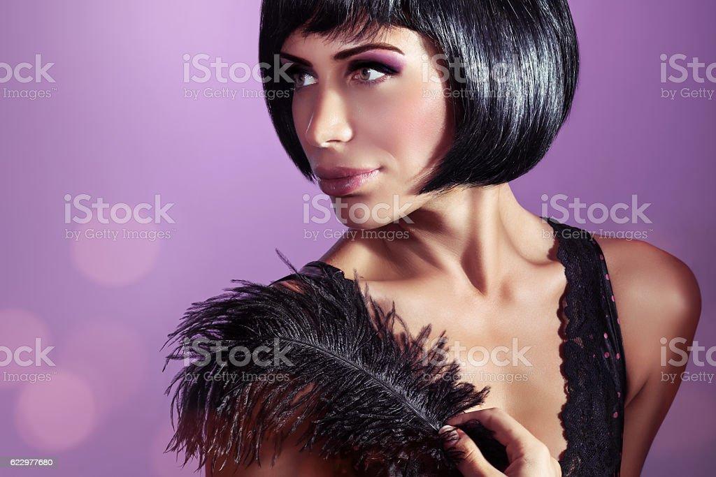 Retro fashion portrait stock photo