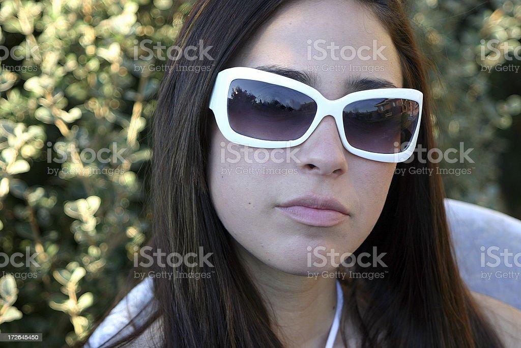 Retro Female royalty-free stock photo