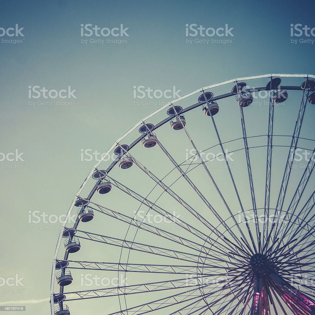Retro Ferris Wheel stock photo