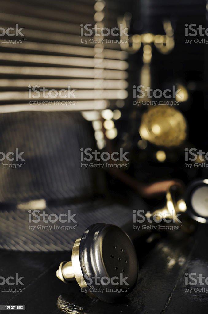 Retro Film Noir Scene royalty-free stock photo