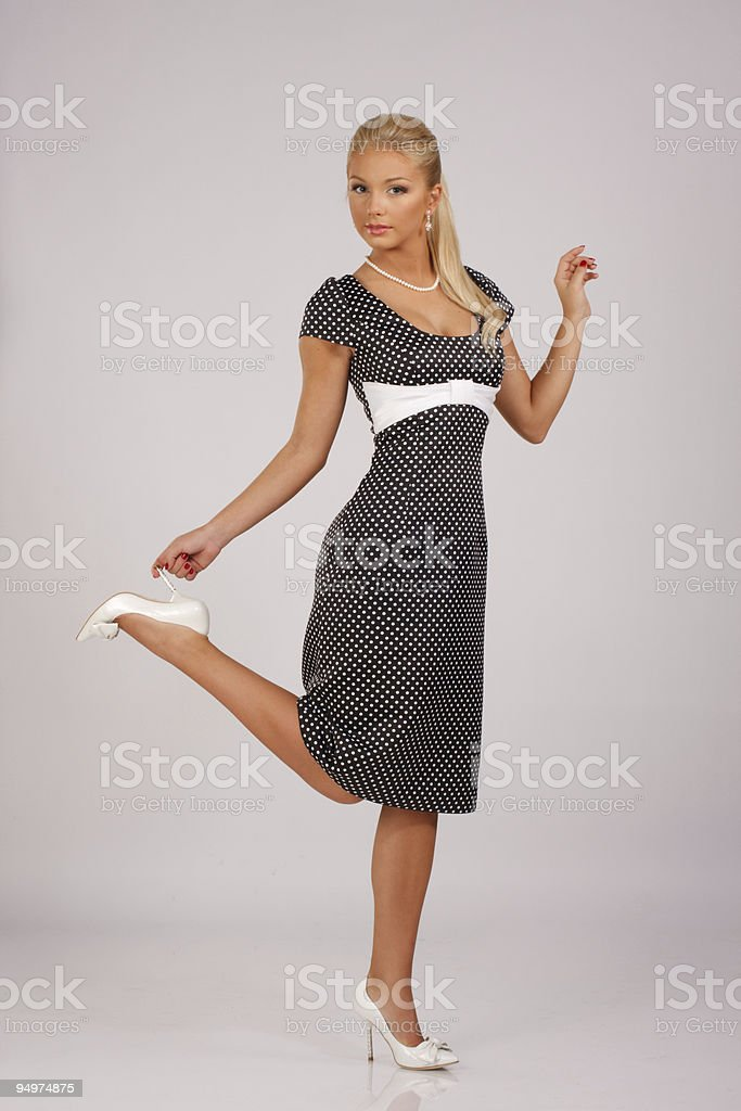 Retro flirt stock photo