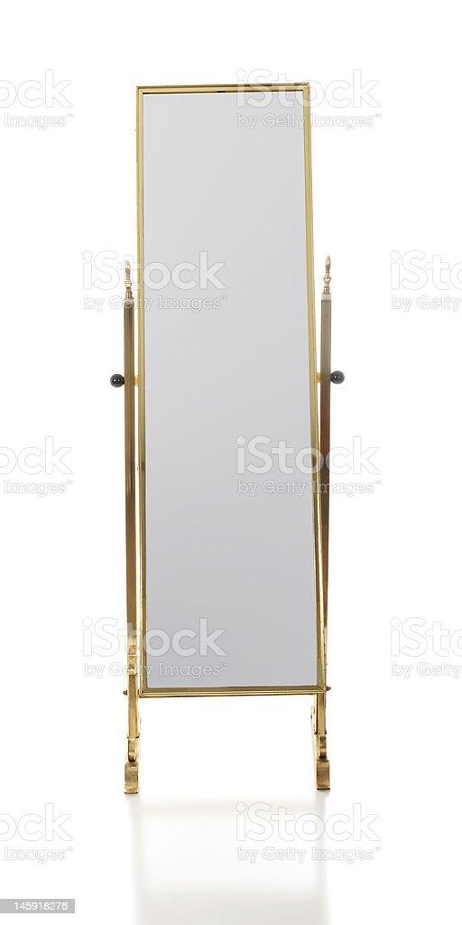 Retro Floor Mirror stock photo