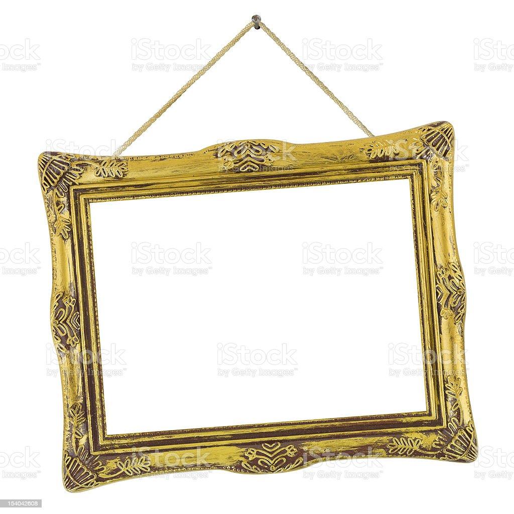 Retro frame at string stock photo