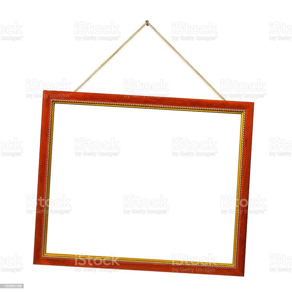 Retro frame with string stock photo