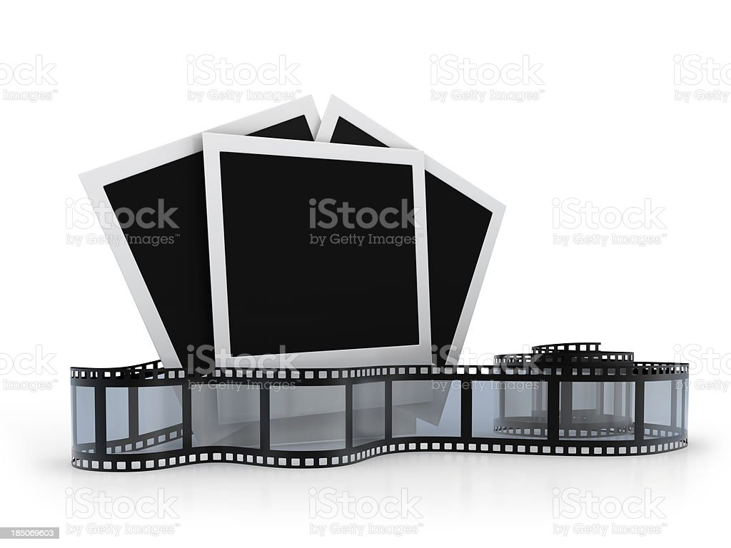 Retro Frames  with spiral Film royalty-free stock photo