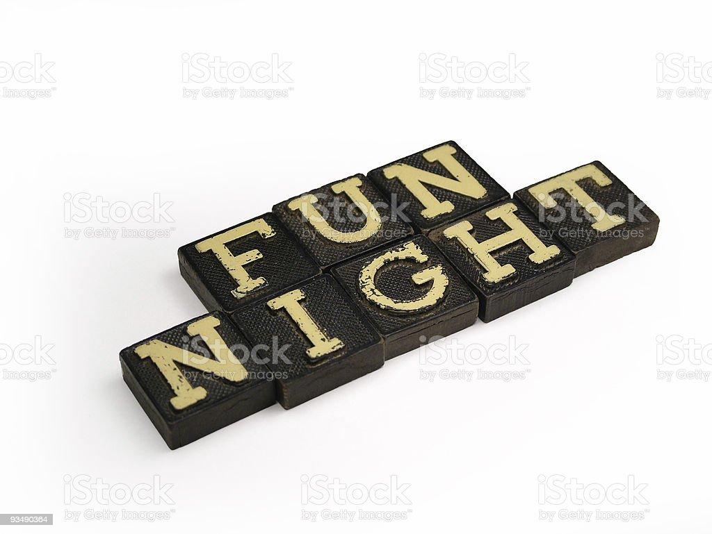 Retro Fun Night royalty-free stock photo