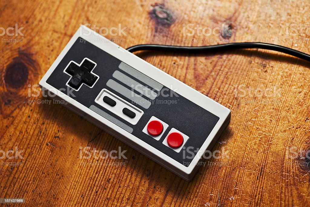 Retro Game Console controller stock photo